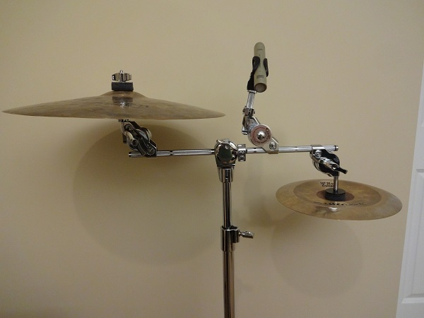 Two cymbals and a smartly placed microphone pointed at nothing.